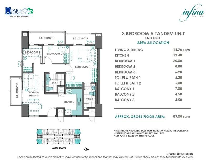 3 Bedroom Tandem (6.11M - 6.34M)