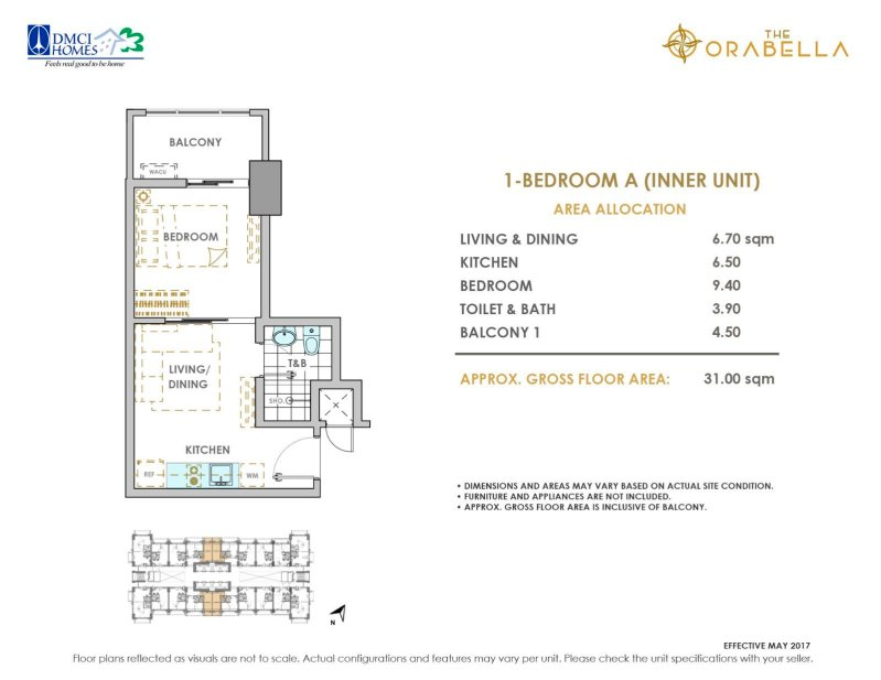 The Orabella DMCI 1 Bedroom A