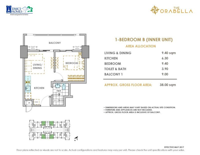 The Orabella DMCI 1 Bedroom B