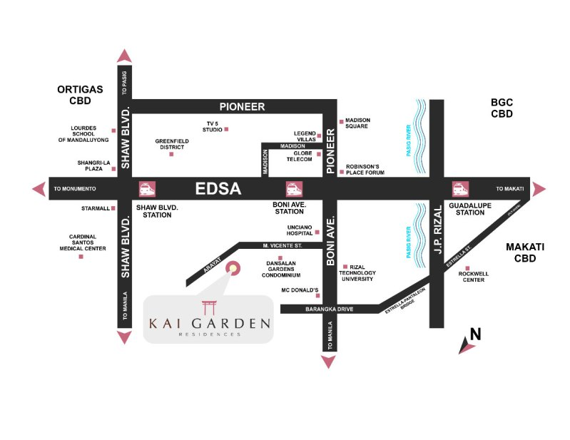 Kai Garden Residences Location Map