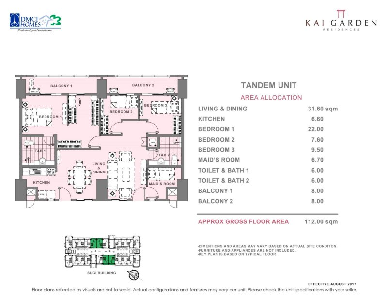 Kai Garden Residences Tandem Unit