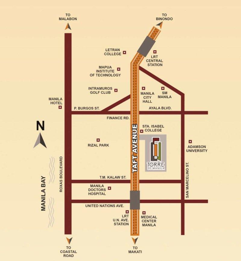Torre De Manila DMCI Location