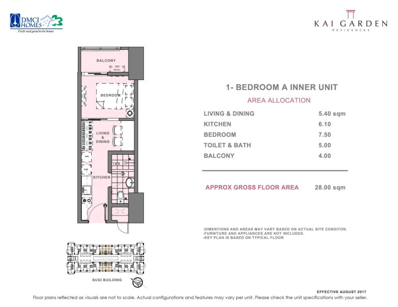 Kai Garden Residences 1 Bedroom A