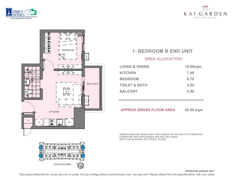 Kai Garden Residences 1 Bedroom B