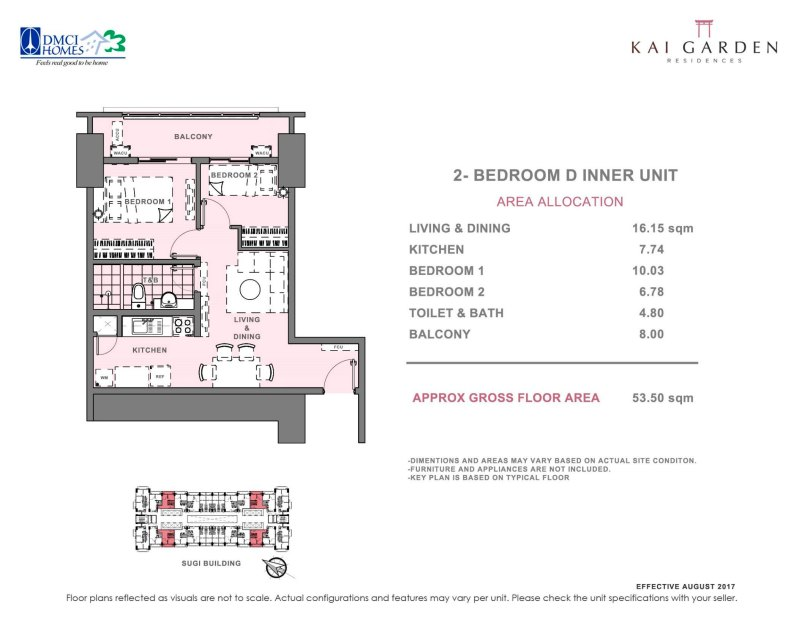 Kai Garden Residences 2 Bedroom D