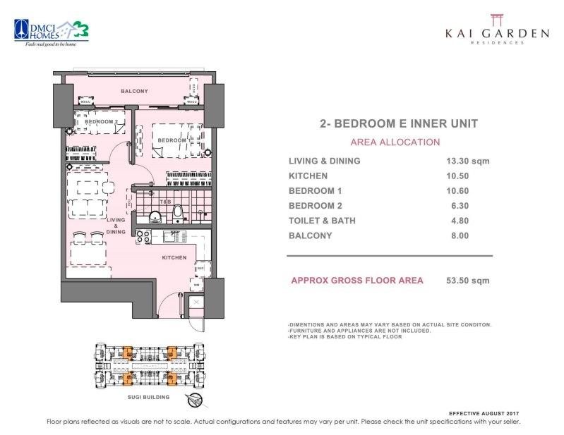 Kai Garden Residences 2 Bedroom E