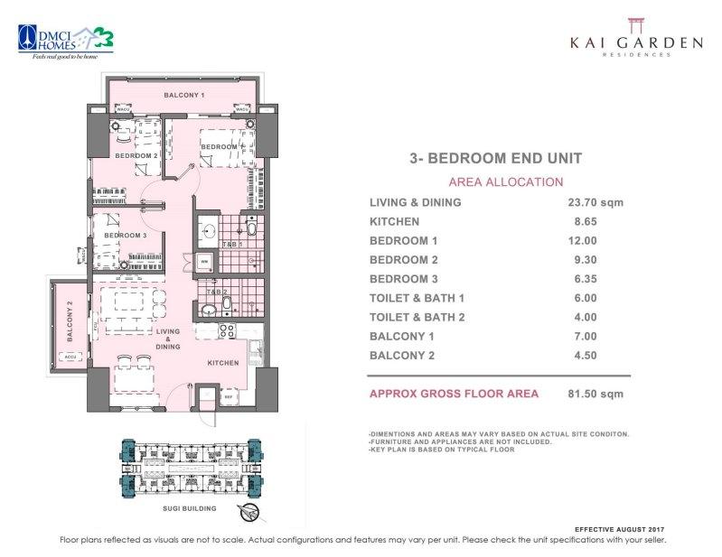 Kai Garden Residences 3 Bedroom Unit