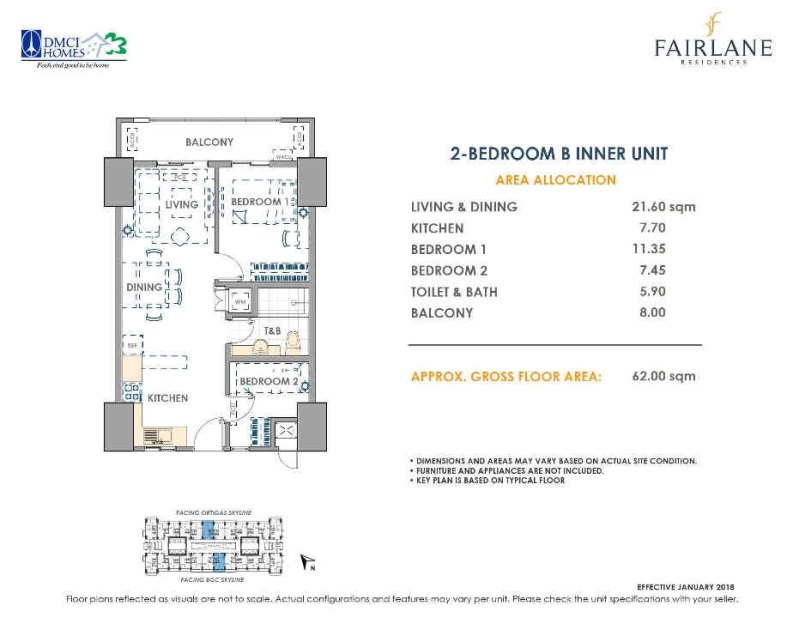 Fairlane Residences 2 Bedroom