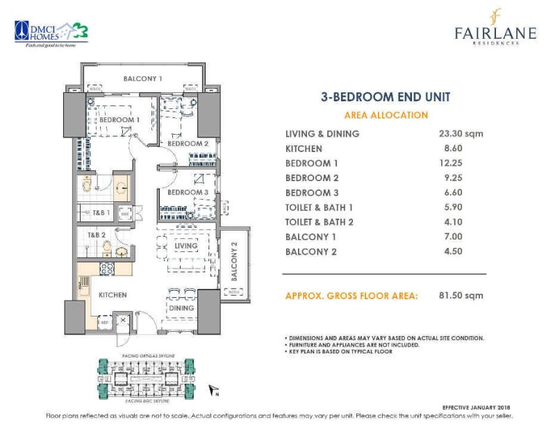 Fairlane Residences 3 Bedroom