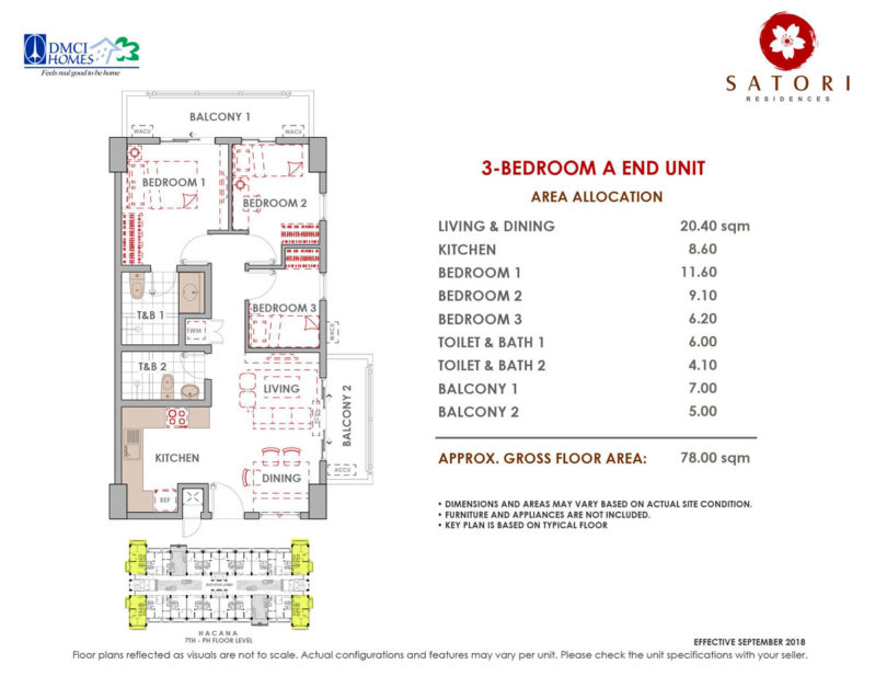 Satori Residences 3 Bedroom