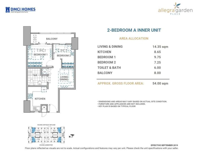 Allegra Garden Place 2BR A