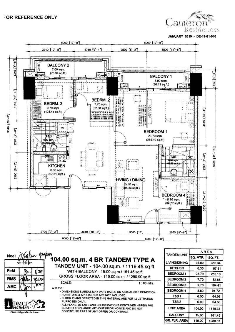 Cameron Residences Tandem Units