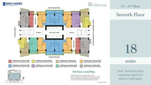The Crestmont Floorplans