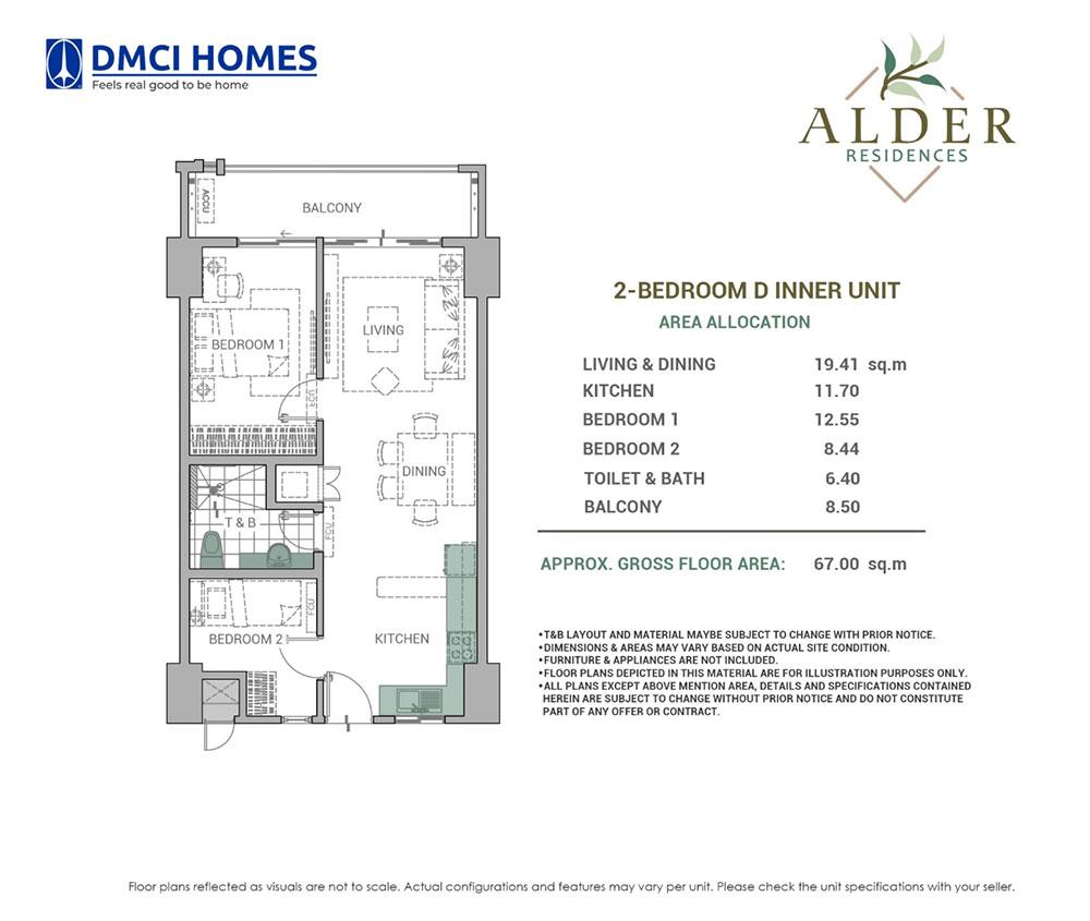Alder Residences 2BR D