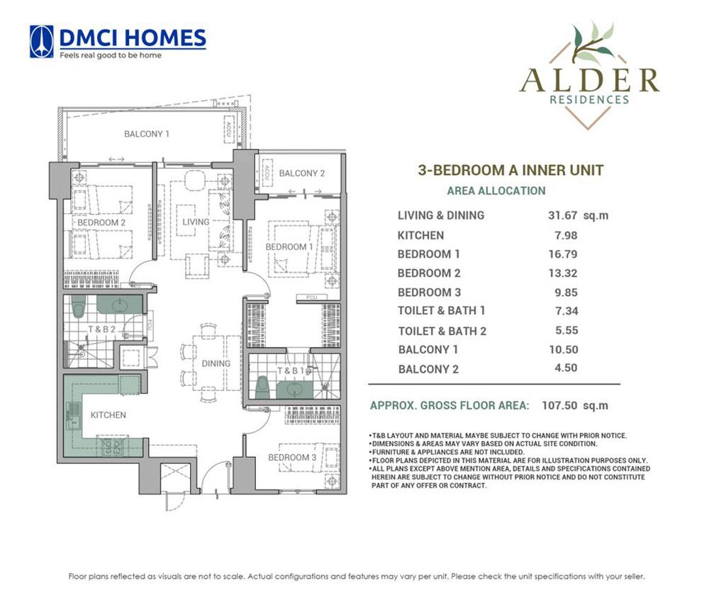 Alder Residences 3BR A