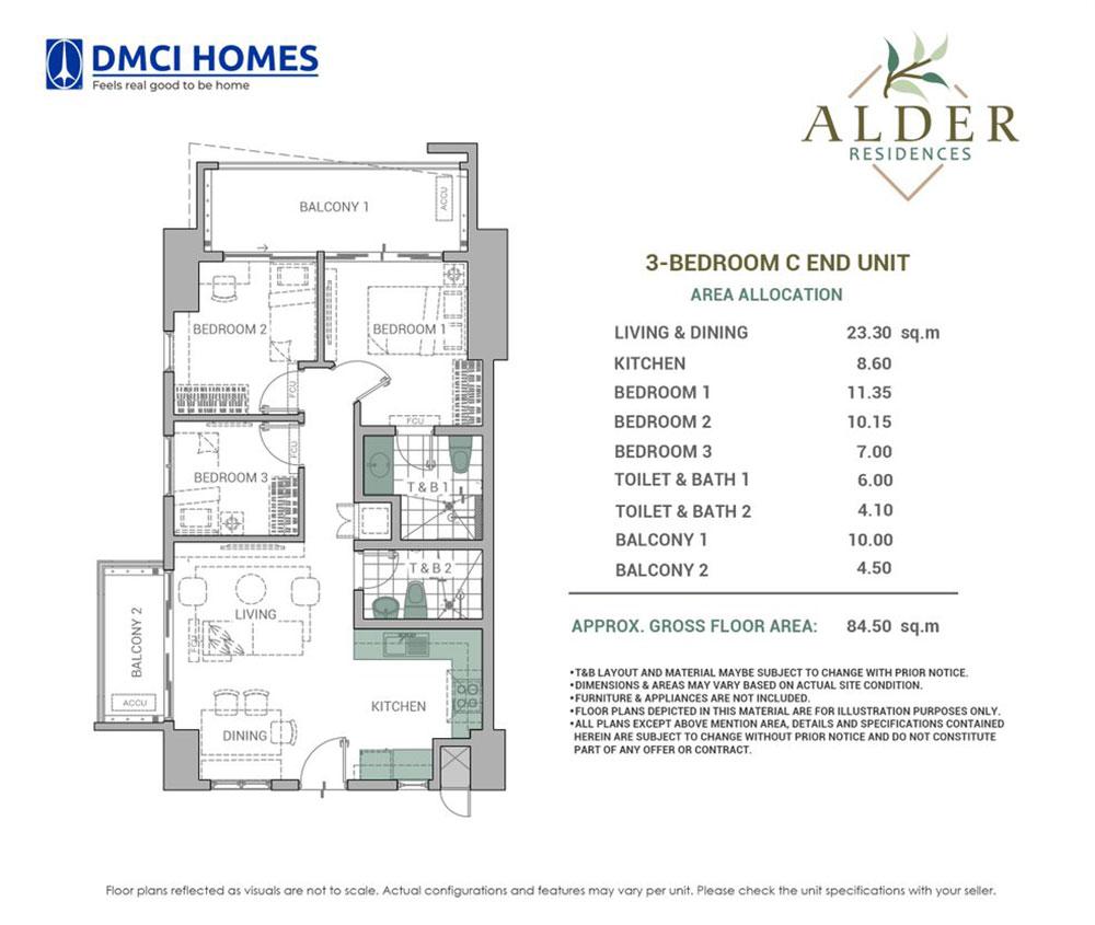 Alder Residences 3BR C