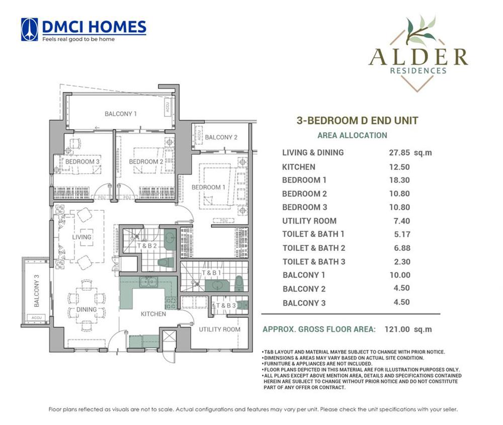 Alder Residences 3BR D