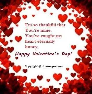 Happy valentine day message in english