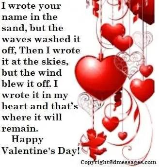 Valentine sms for bf