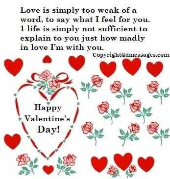 Valentine sms for husband