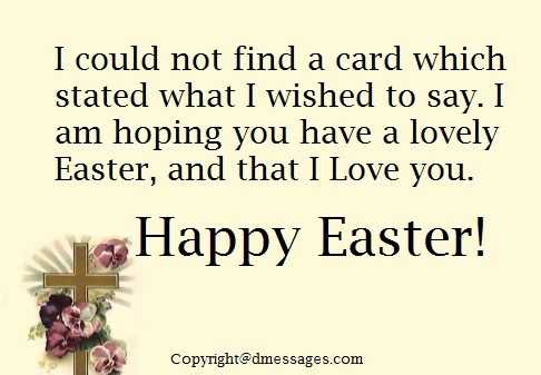 greetings for easter