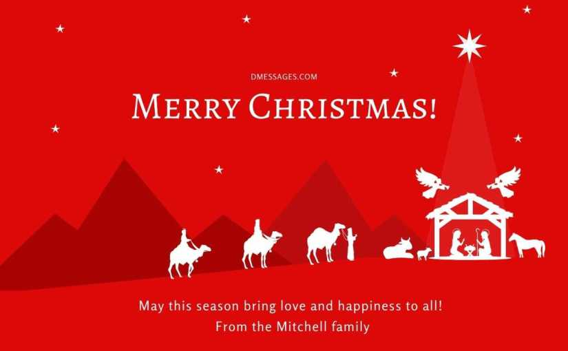 *Best* 200+ Religious Christmas Messages – Religious Christmas Card Sayings