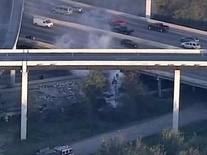 Big rig falls off Houston 59 Ramp, Kills One