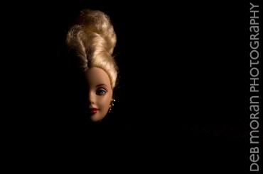 Half-Lit Barbie Head