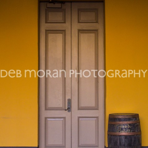 Museo de Las Américas Doorway with Barrel - San Juan
