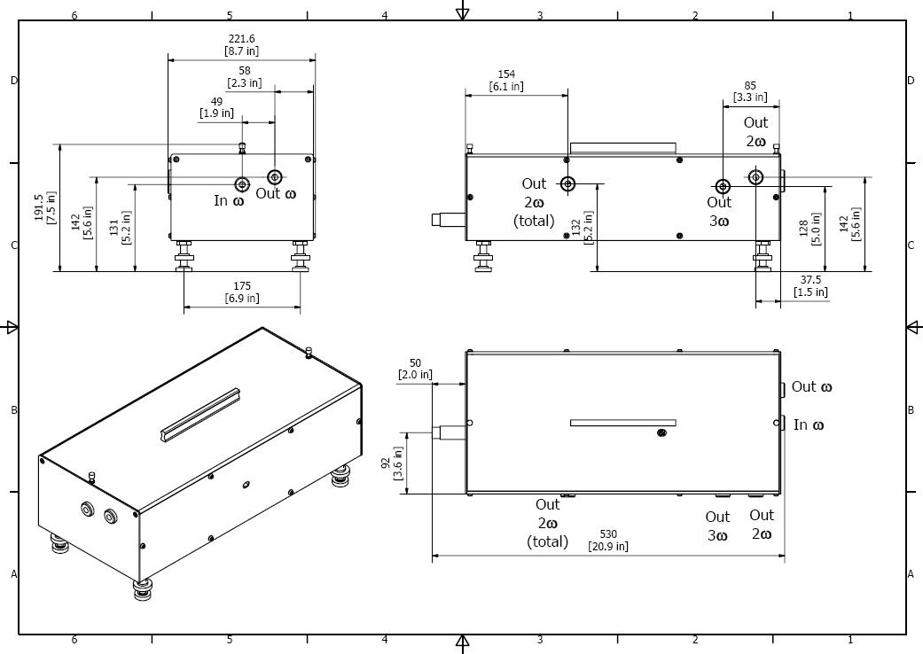 Third harmonic generator for an amplified Ti:sapphire laser