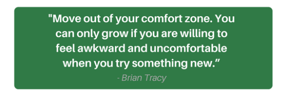 Brian Tracy Quote, Move Out of your comfort zone, DMR Accounting and consulting, fearless accounting, entrepreneur success, business success, Deidra Ryan