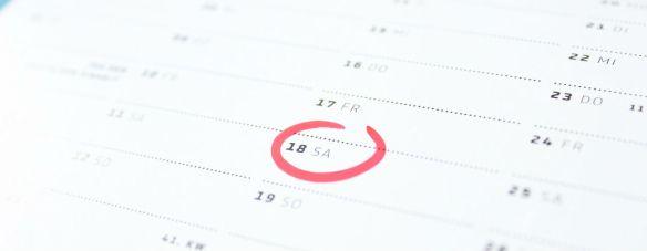 Tax deadlines, calendar, IRS calendar, tax calendar, DMR accounting