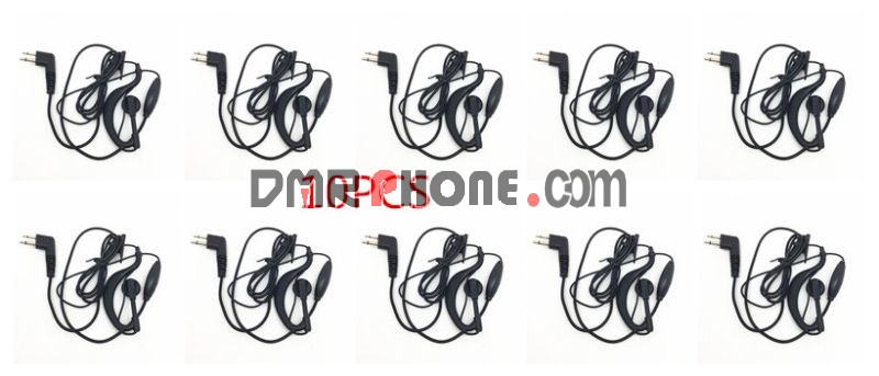 10pcs For Motorola Radios 2 Pin Earpieces GP3188 GP3688