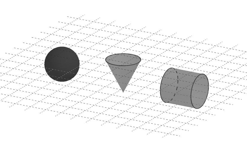 Elementos geométricos sobre un plano en el espacio tridimensional.