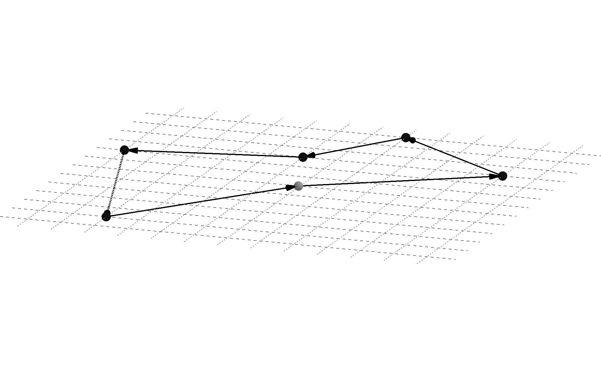 Imagen de un espacio geométrico inspirado en la constelación de Orión.
