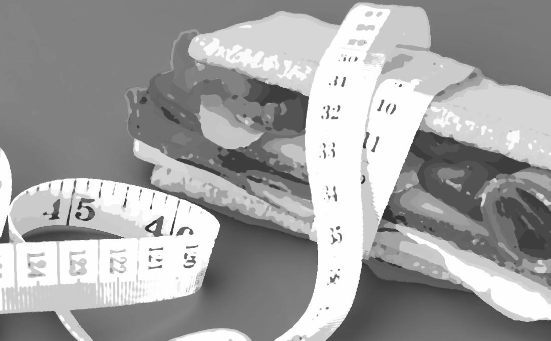 Sándwich bajo medición
