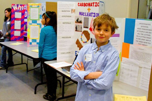 Middle School Student Projects Display Annual