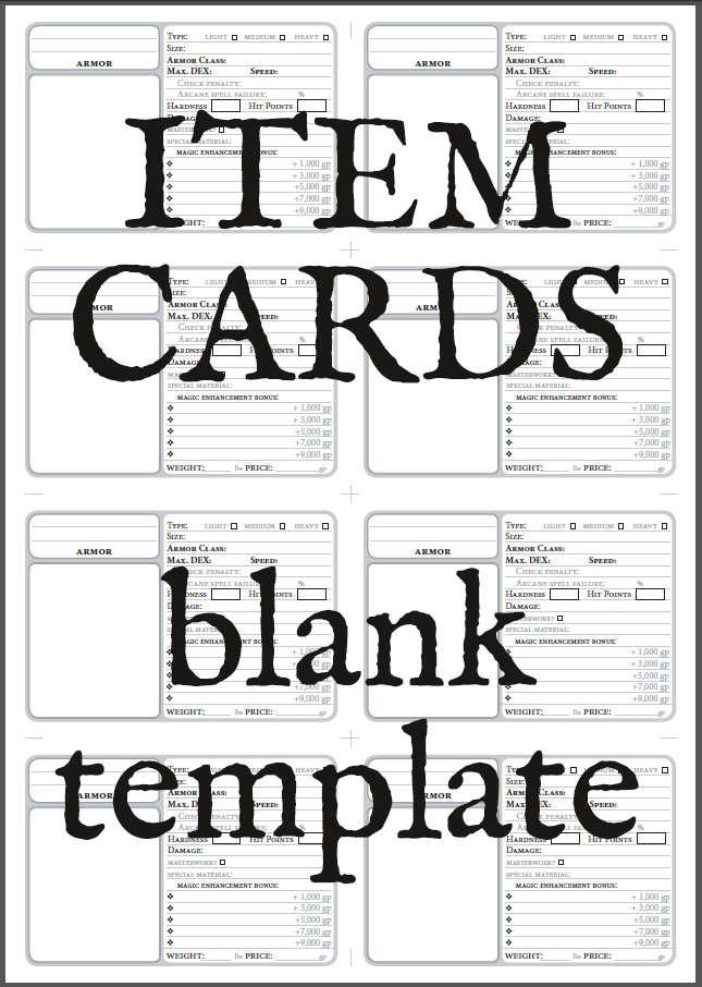 item cards blank printable