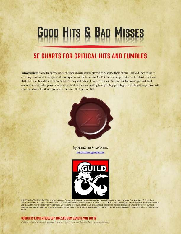 Good Hits & Bad Misses
