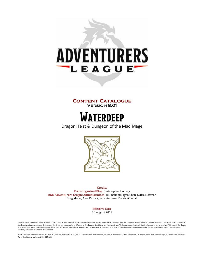 d d adventurers league