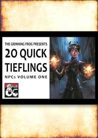 20 Quick Tiefling NPCs - Dungeon Masters Guild | Dungeon ...