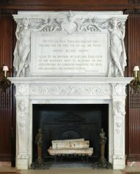 New York Public Library Marble Fireplace Mantel