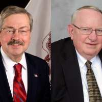 Gov. Terry Branstad and Ed Skinner