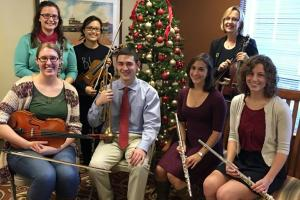 This year's DMU Ensemble members are, in the front row, Michelle Brenner, Brock Booth, Kayla Whitmore and Megan Downey and, in the back row, Martha Klingbeil, Tanya Hioe and Leslie Wimsatt, Ph.D., associate dean of academic assessment, quality and development, College of Osteopathic Medicine.