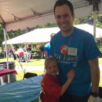 Matthew Knabel volunteered with Special Olympics athletes.