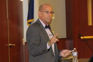 Stephen Nelson, M.D., speaks at the Diversity Health Series