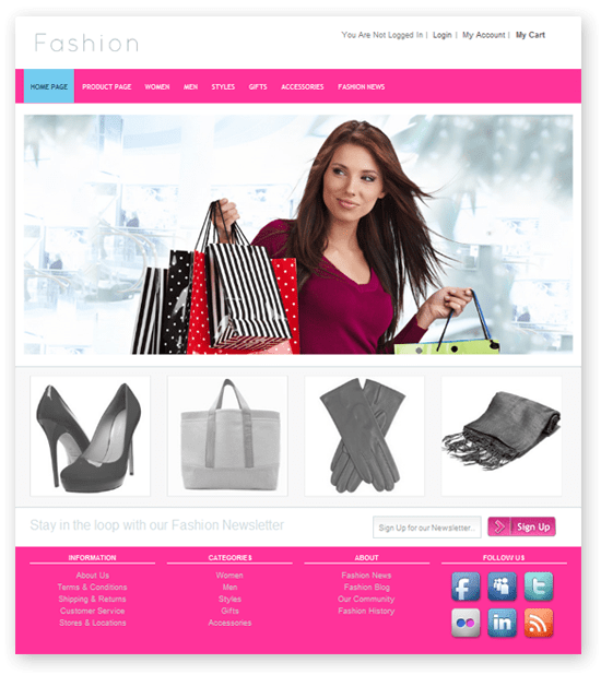 Fresh And Free Fashion Store Template