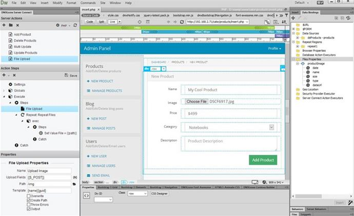 HTML5 File Upload - Extensions - DMXzone.COM