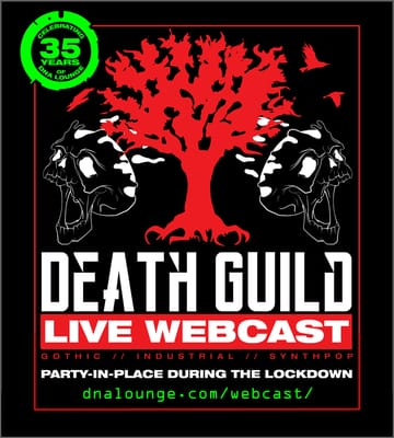 Death Guild: Party-In-Place Webcast Flyer