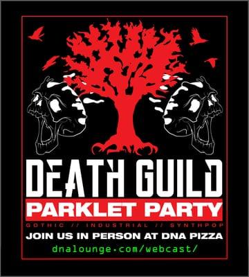 Death Guild: Parklet Party Flyer